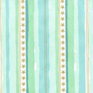 Sarah Jane, Magic, Stars and Stripes in Aqua Metallic, Michael Miller Fabrics - 83 West Studio, Inc.