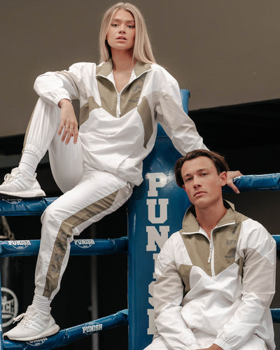 Unisex Pre-Game Track Jacket - White