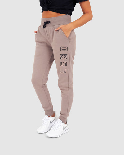 Unisex Tidy Trackpants - Greige