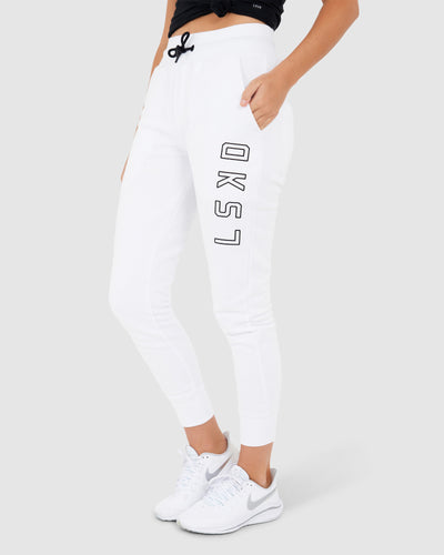 Unisex Tidy Trackpant - White