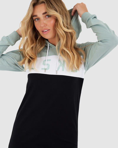 Dough Hooded LS Dress - Blue Haze