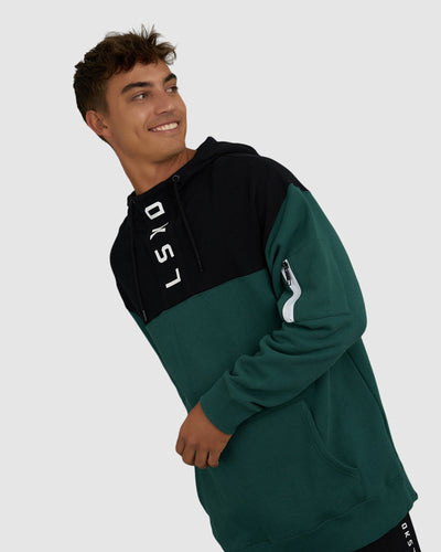 Contrary Pullover - Deep Emerald-Black