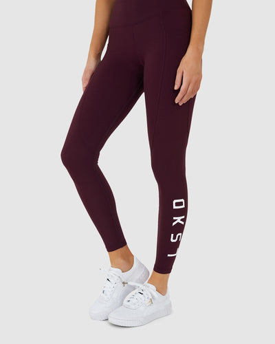 Rep Legging - Wine