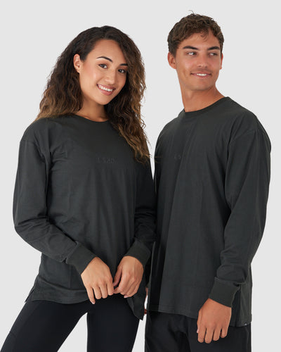 Unisex Field LS Tee Oversize - Pirate Black