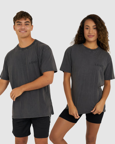 Unisex Bank Tee Oversize - Pilled Pigment Charcoal