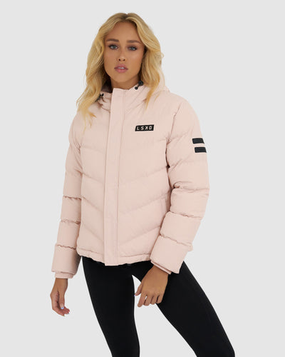 Roasted Puffer Jacket - Peach Whip