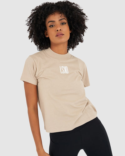 Press Tee - Taupe