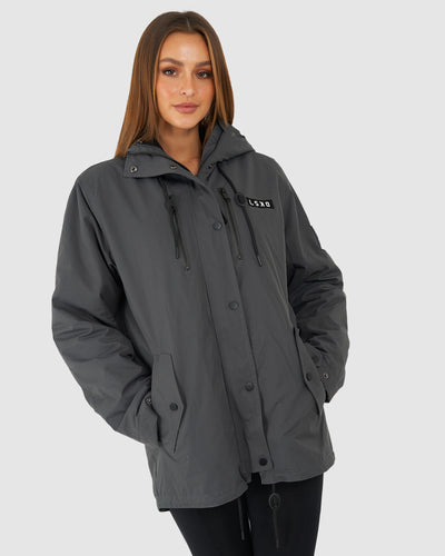 Unisex Tack Anorak Jacket - Dark Shadow