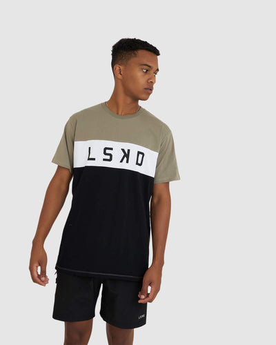 Dough Tee - Dusty Olive-Black-White