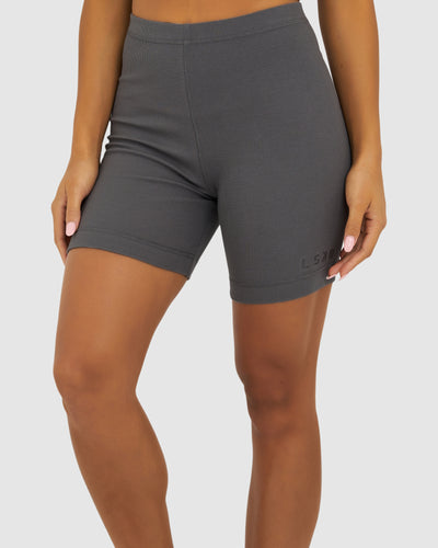 Dymo Ribbed Bike Short - Shade