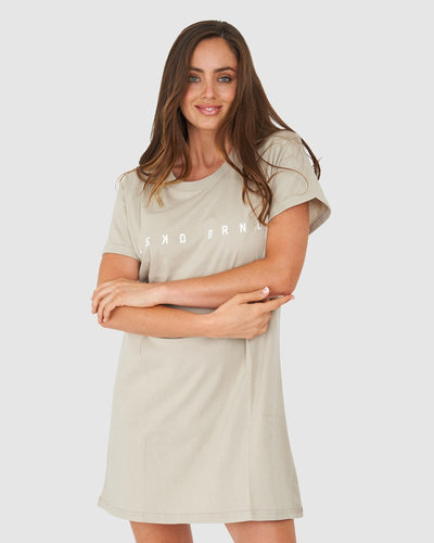 Snack Tee Dress - Lt Taupe