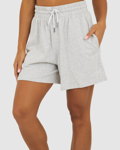 Boyfriend Short - Lt Grey Marle