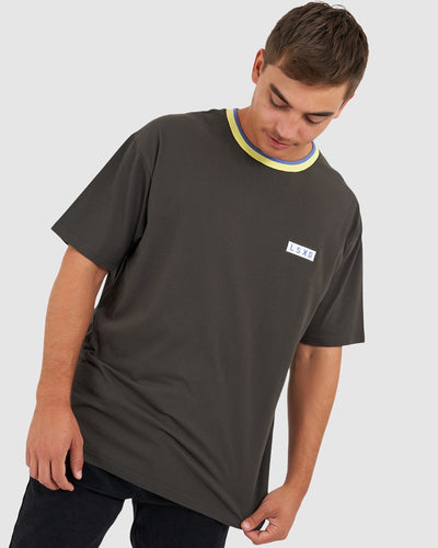 Edged Tee - Vintage Black