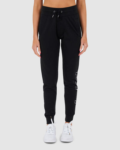 Unisex Lean Trackpant - Black Pigment