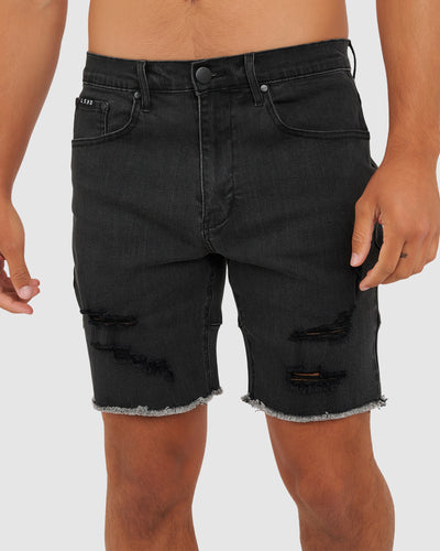 Heath Denim Short - Vintage Black