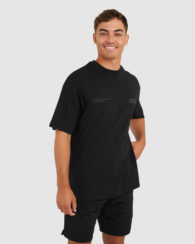 Department Tee - Black-Black