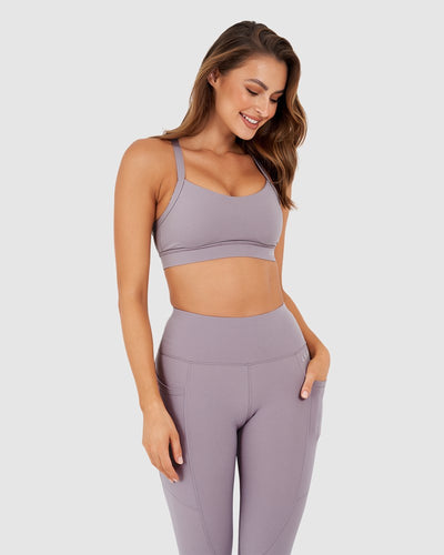 Momentum Sports Bra - Dusty Lilac