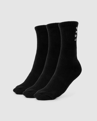 Signal Crew Sock - 3 Pack - Black