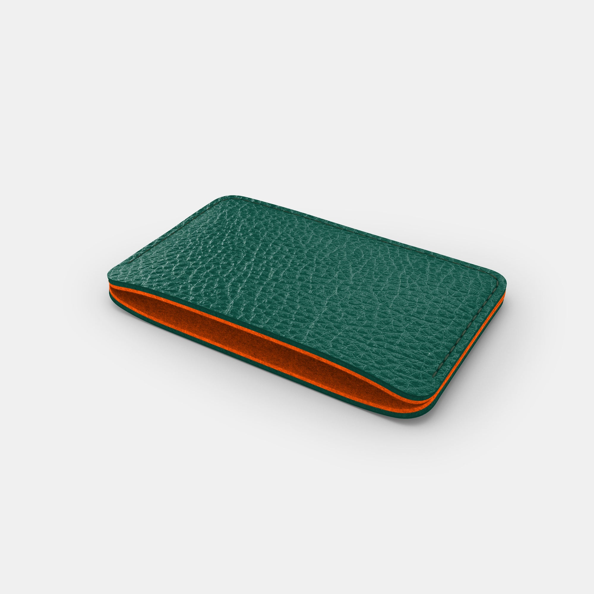 Slim Card Holder - Avocado and Orange - RYAN London