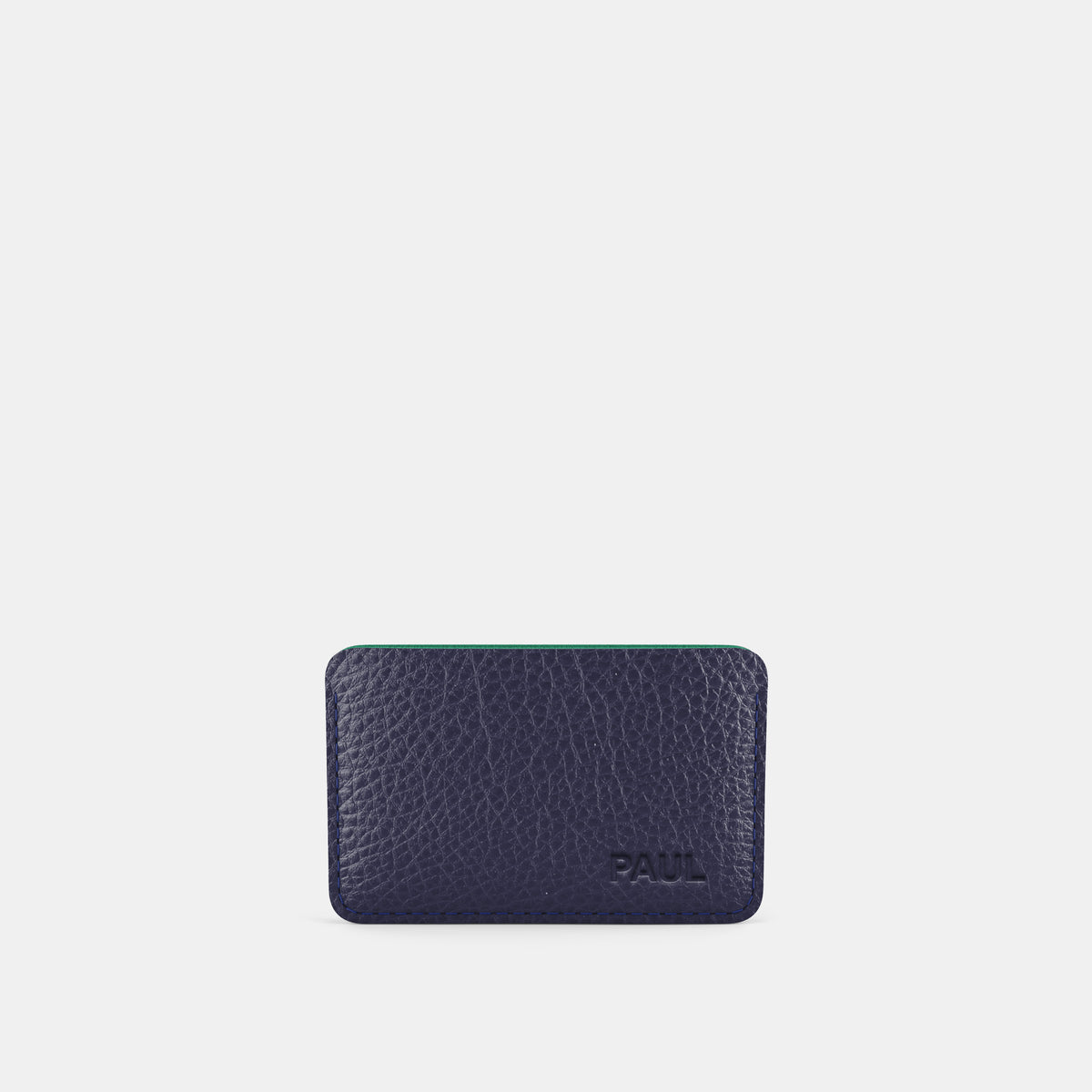 Slim Card Holder - Navy and Mint - RYAN London