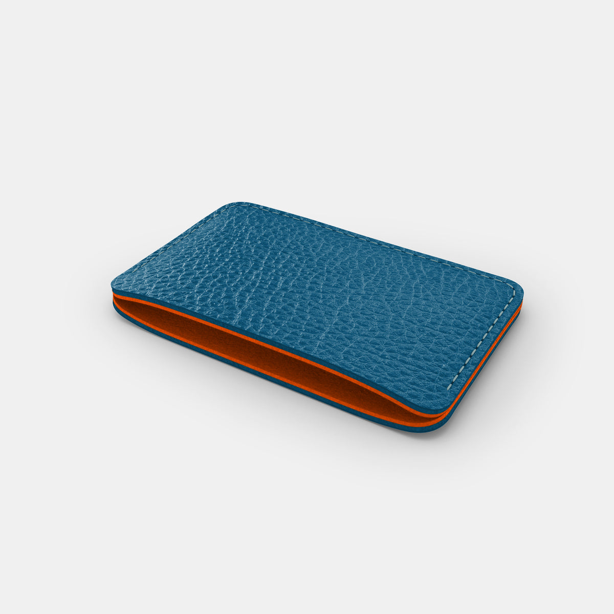 Slim Card Holder - Turquoise and Orange - RYAN London