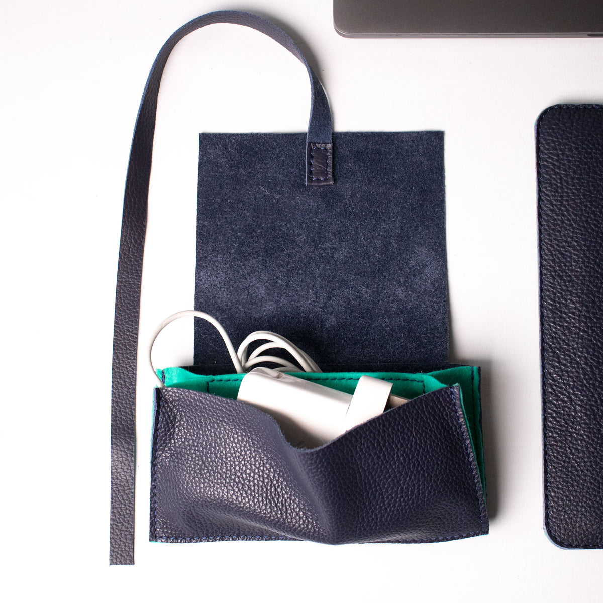 Cable Bag - Navy and Mint - RYAN London