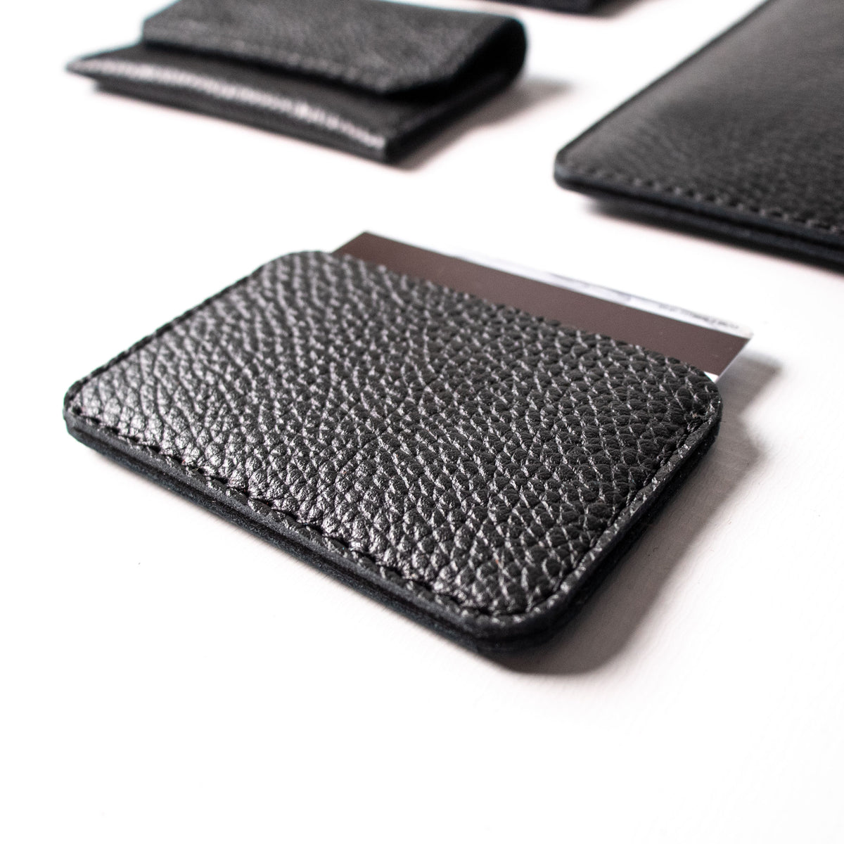 Slim Card Holder - Black and Black - RYAN London
