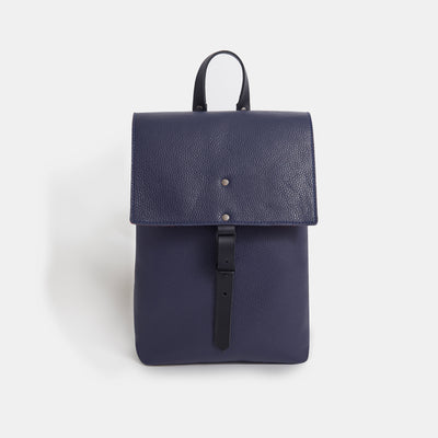 Italian Leather and Wool Felt Backpack