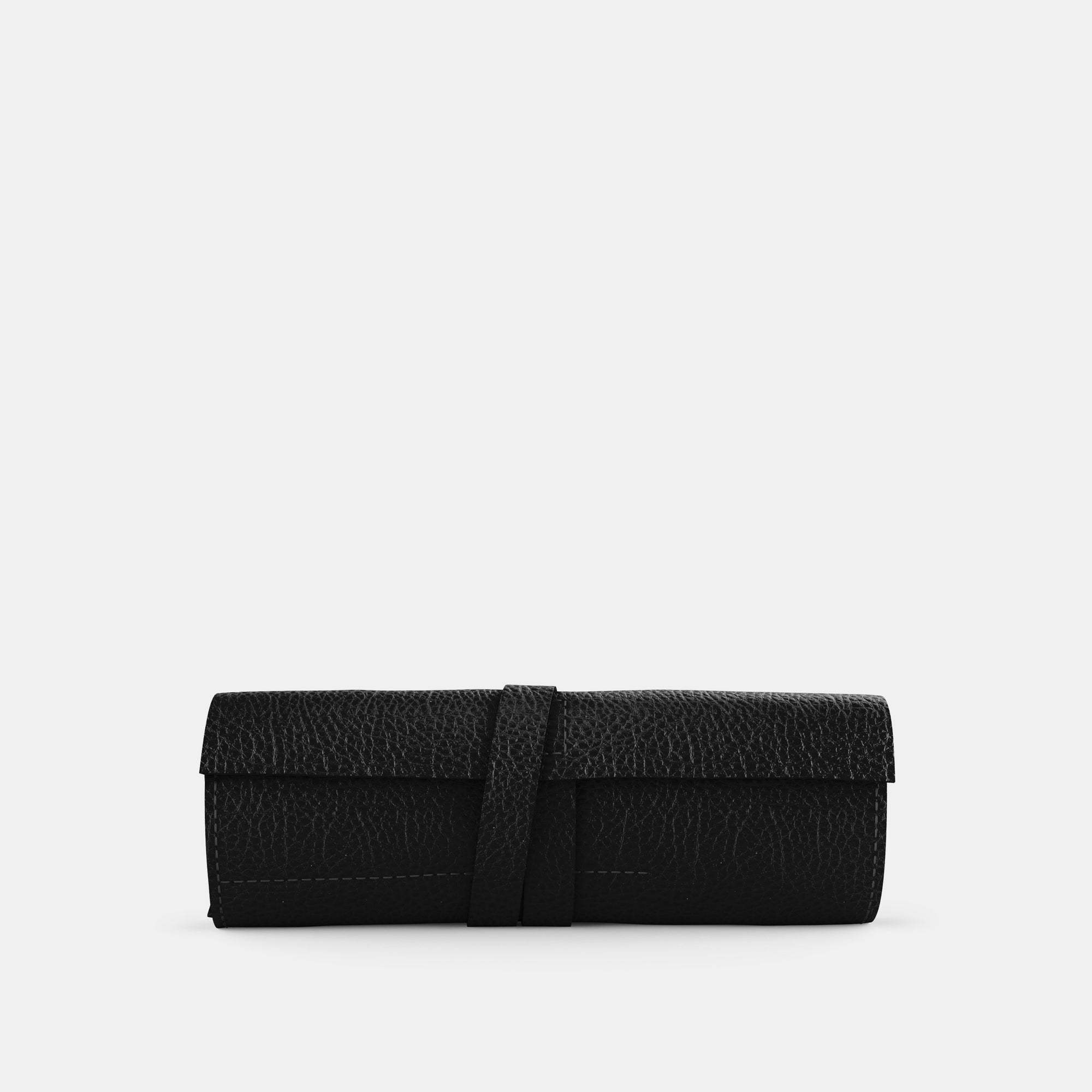 Leather Roll - Black and Black - RYAN London