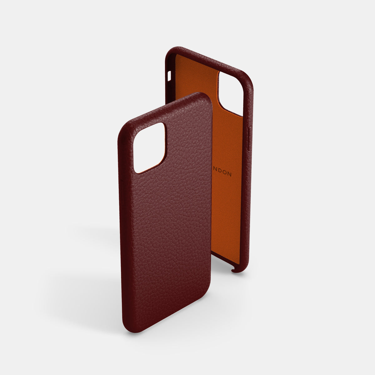 iPhone Leather Shell Case - Oxblood - RYAN London