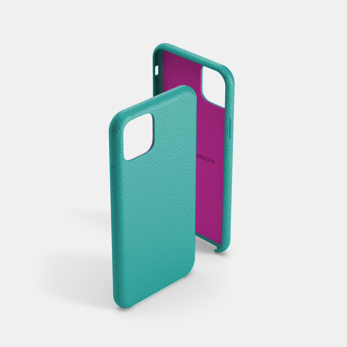 iPhone Leather Shell Case - Mint Sky - RYAN London