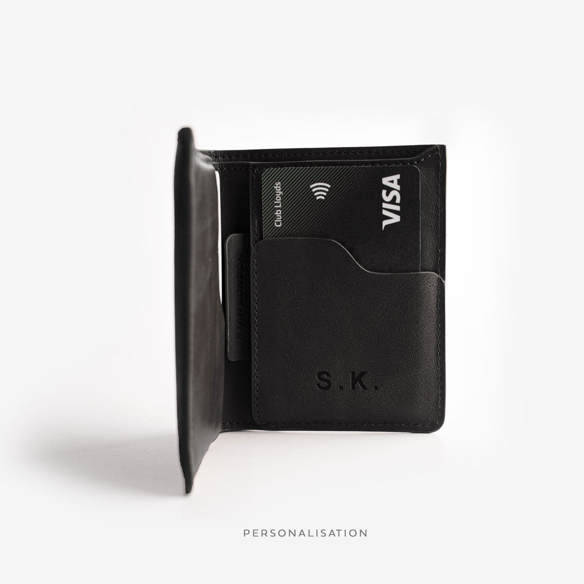 Super Slim Bi-fold wallet - Deep Black - RYAN London