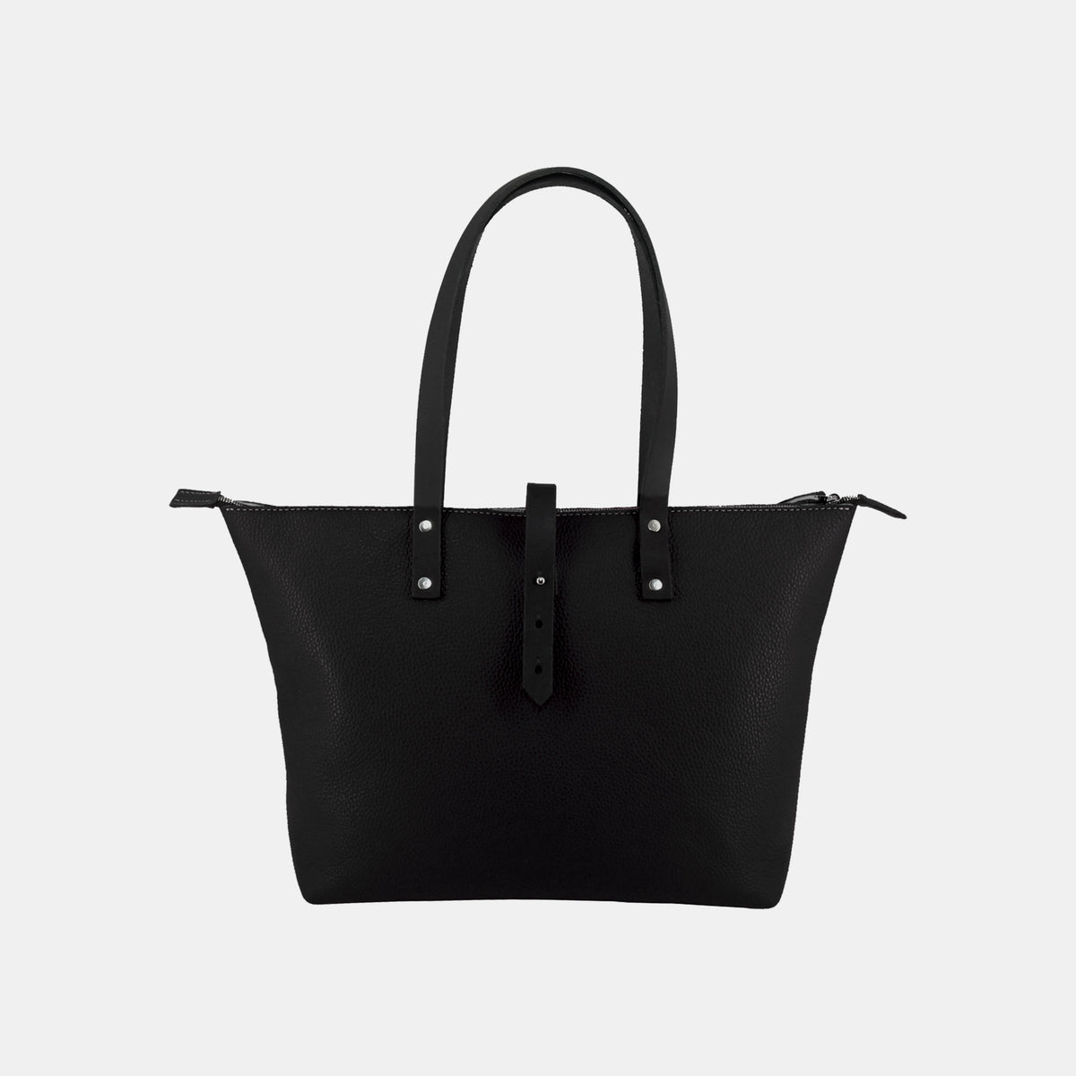 Italian Leather Tote with Wool Felt Lining and Zip - RYAN London