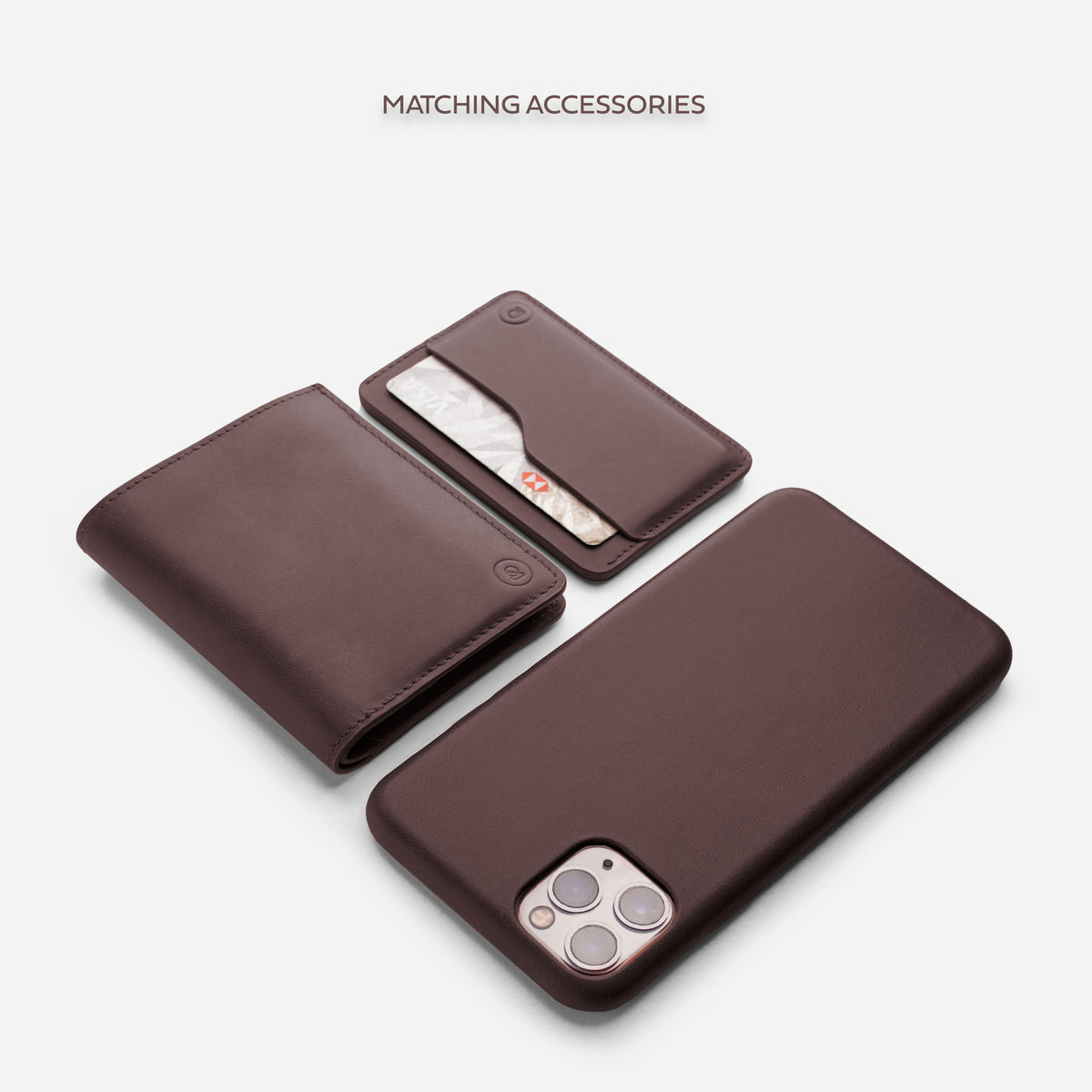 iPhone Leather Shell Case - Deep Brown - RYAN London