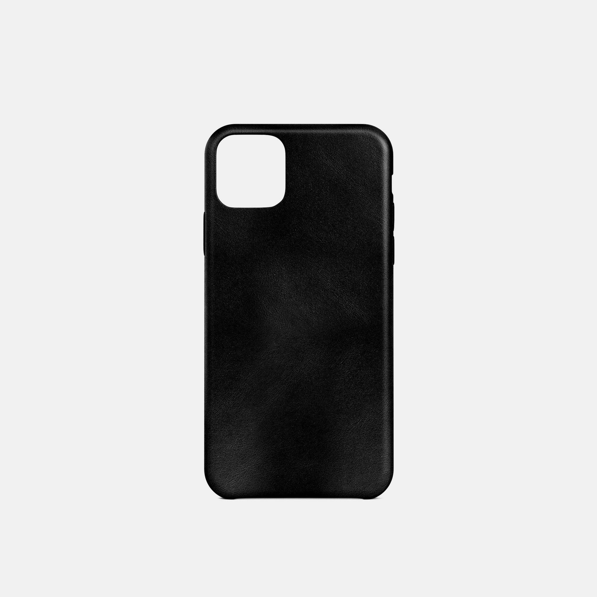 iPhone Leather Shell Case - Deep Black - RYAN London