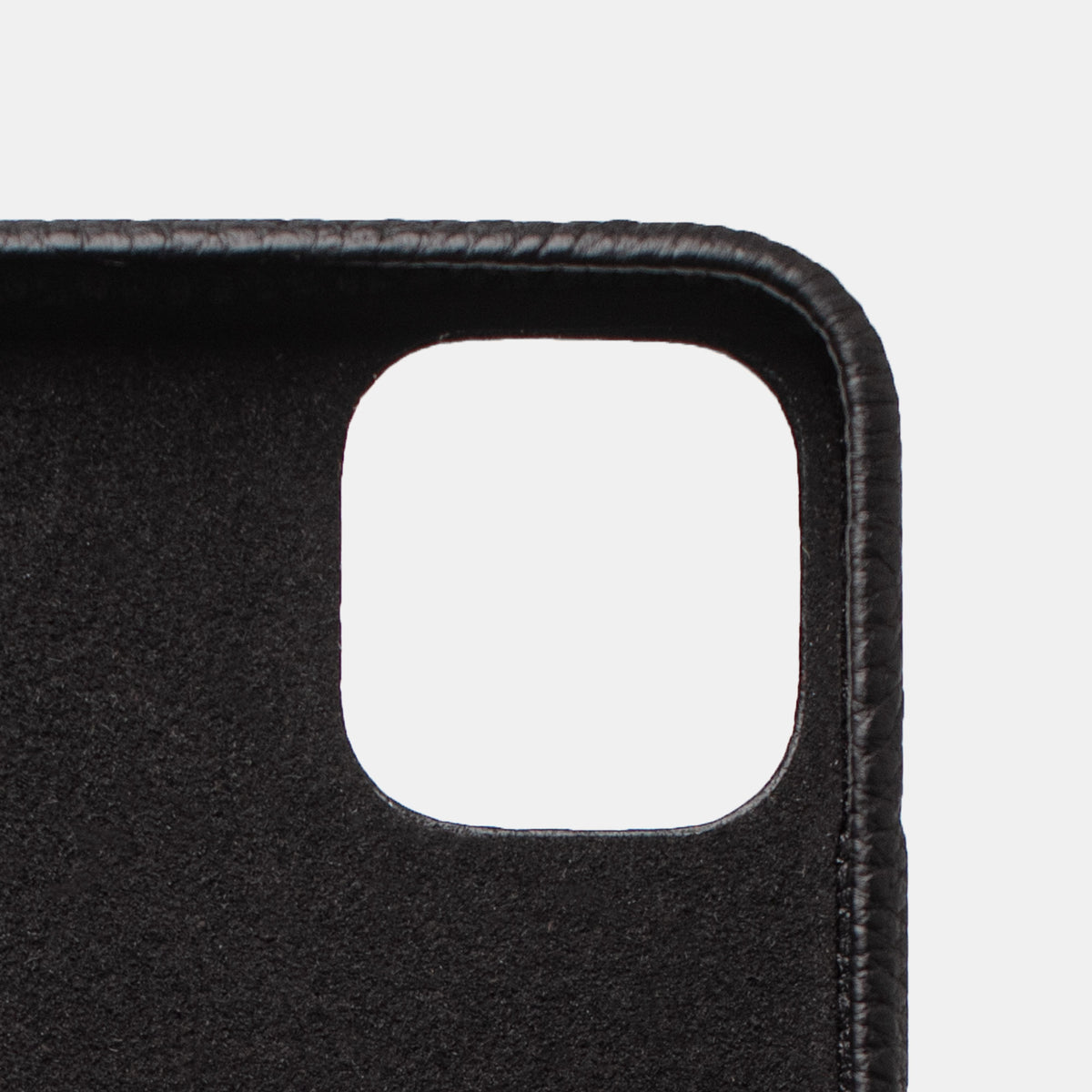 iPhone Leather Shell Case - Pebbble Black - RYAN London