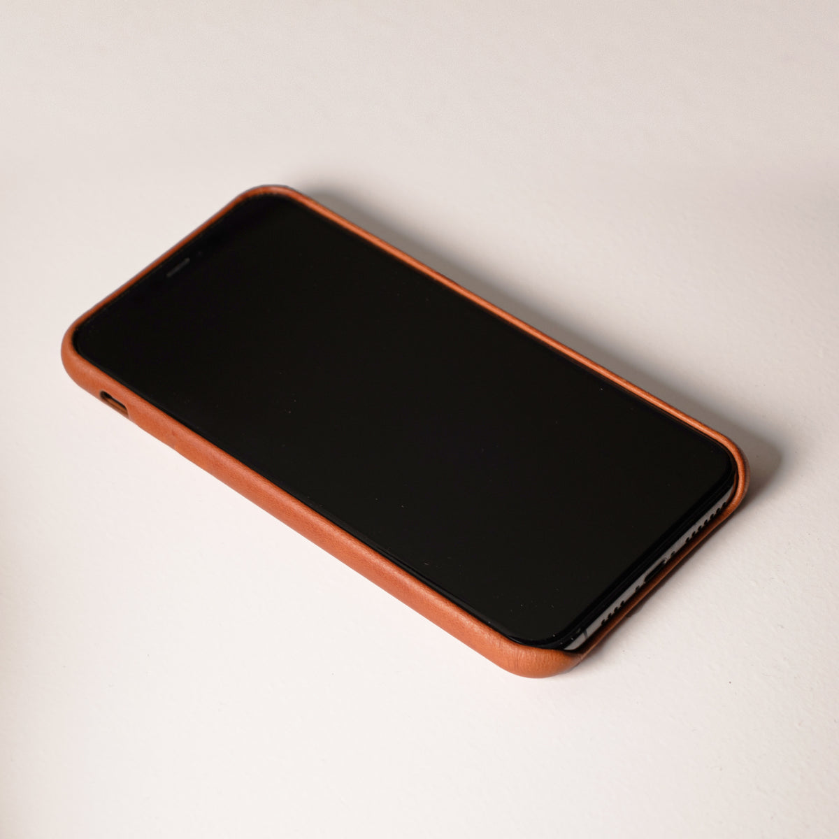 iPhone Leather Shell Case - Saddle Brown - RYAN London