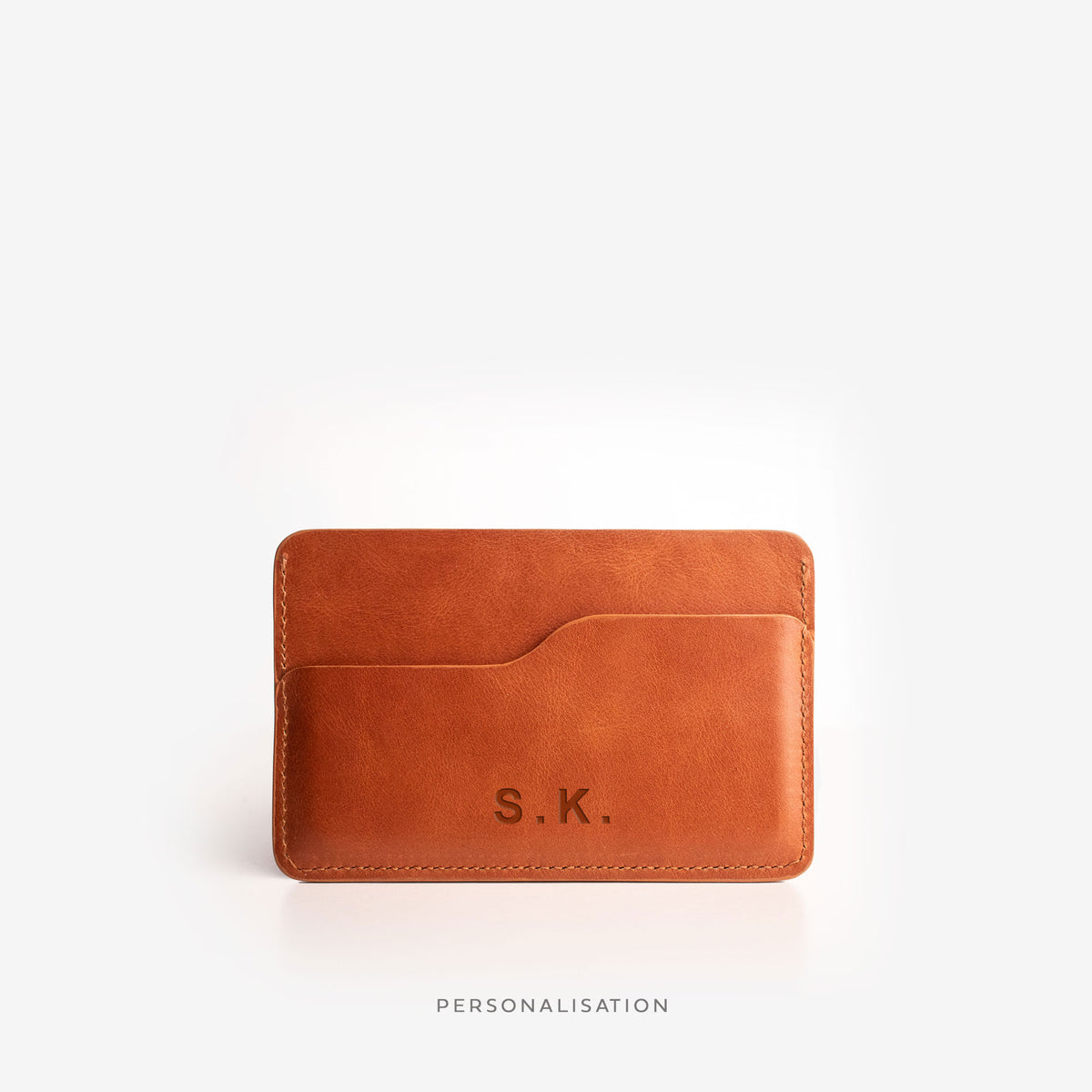 Slim Card Holder - Saddle Brown - RYAN London