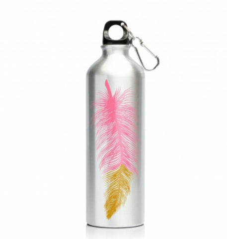 My Family Stainless Steel 600ml Bottle - Feathers