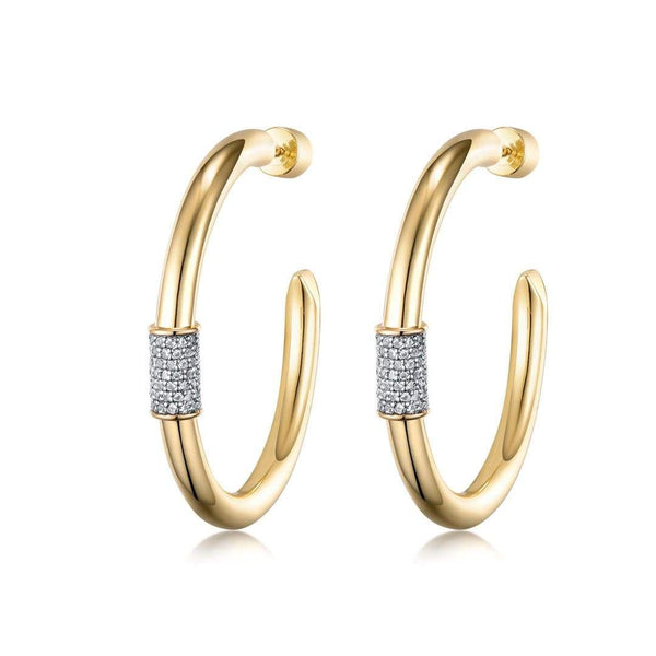F+H Jewellery Earring 18K Gold Plating Heavy Metal 2