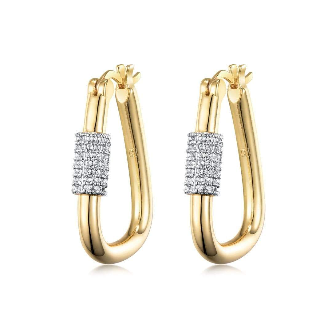 F+H Jewellery Earring 18K Gold Plating Heavy Metal 3
