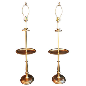 Pair of Solid Brass Floor or Reading Lamps by Frederick Cooper