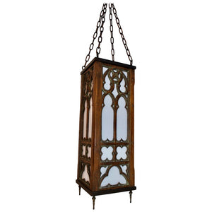 Beautiful 1920s Gothic Wood Lantern