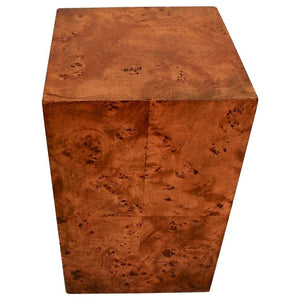 Elegant Small Burl Walnut Side Table Design by Milo Baughman