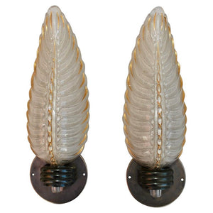 Sexy Pair of French Art Deco Sconces Design by Ezan
