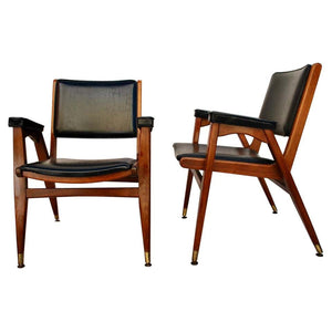 Elegant Pair of Midcentury Chairs from Sweden