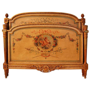 Beautiful French Turn of the Century Bed Louis XV Style