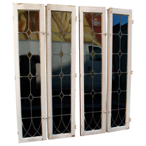 Set of Four Large 1920s Windows