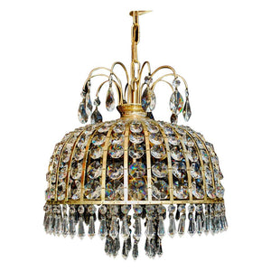 Beautiful 1970s Small Crystal Chandelier