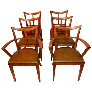 Elegant Set of Six Mid-Century Chairs by Paul Frankl
